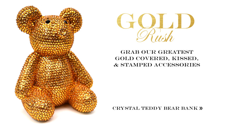 Crystal Teddy Bear Bank
