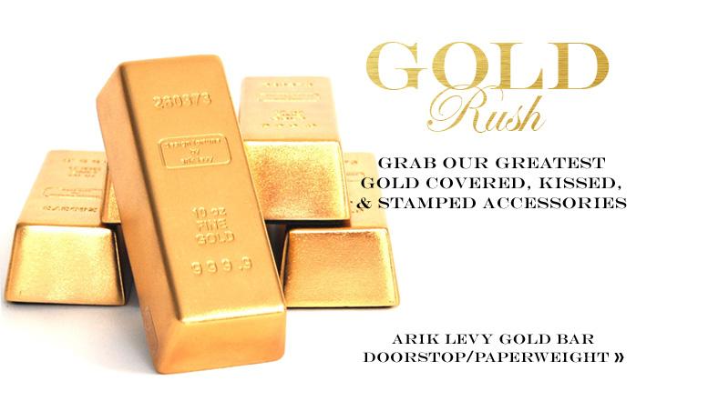 Arik Levy Gold Bar Doorstop