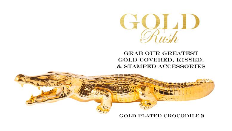 gold crocodile